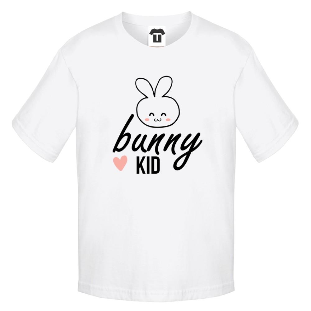 Tricou pentru copii pe alb sau negru Bunny Kid