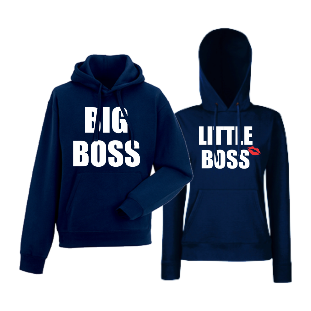 Hanorace pentru Cupluri Big and Little Boss