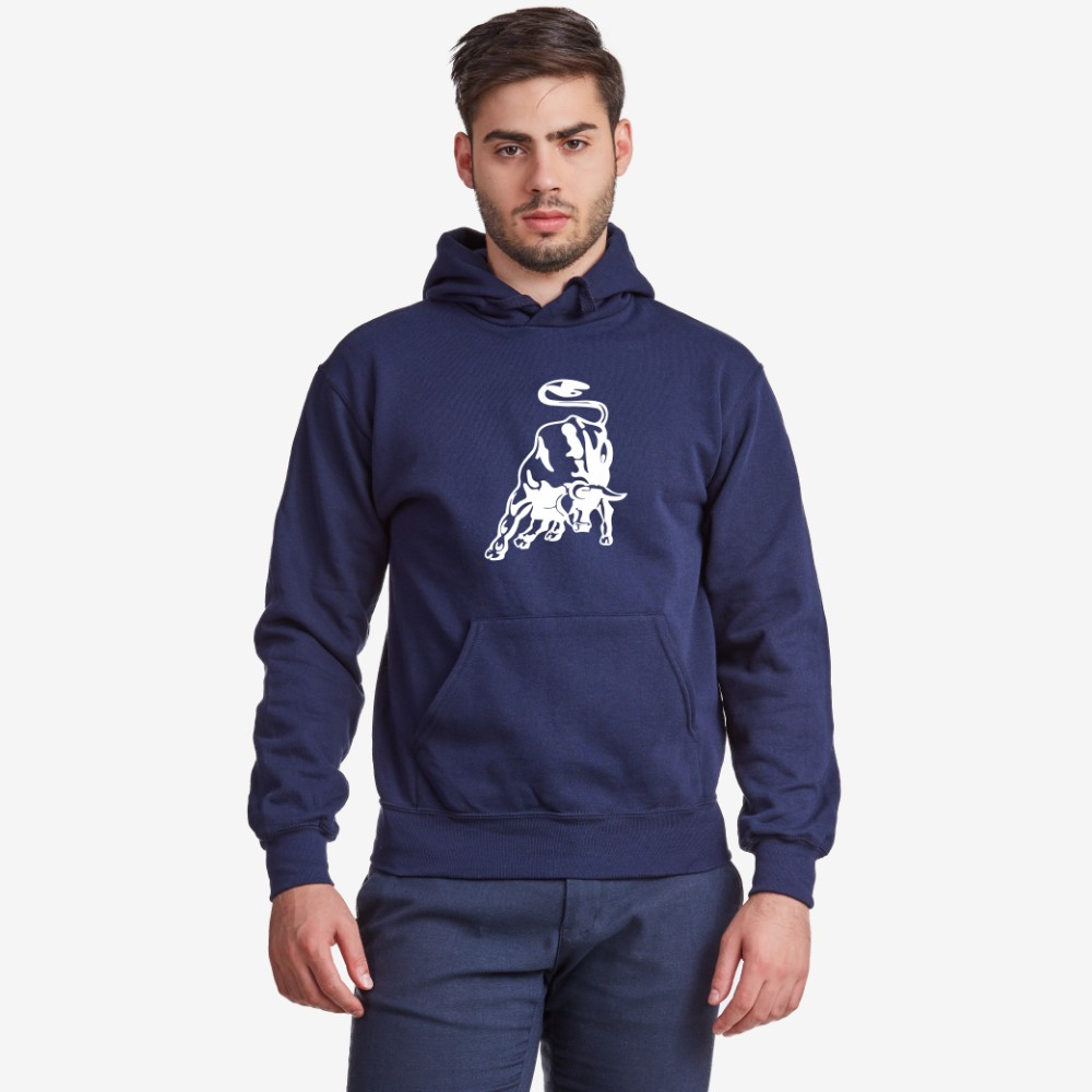 Hanorac de barbat albastru inchis Bull