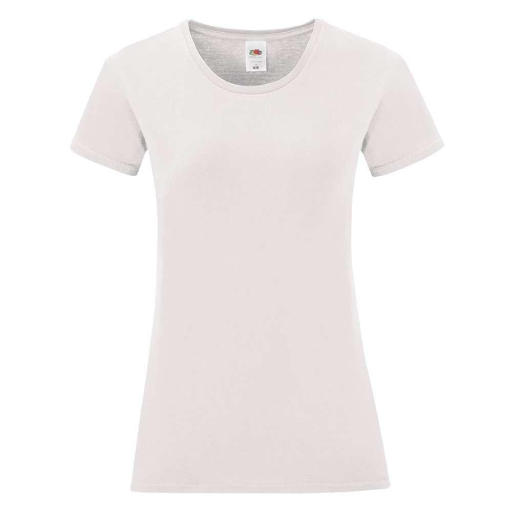 Tricou de dama din 100% bumbac pe alb