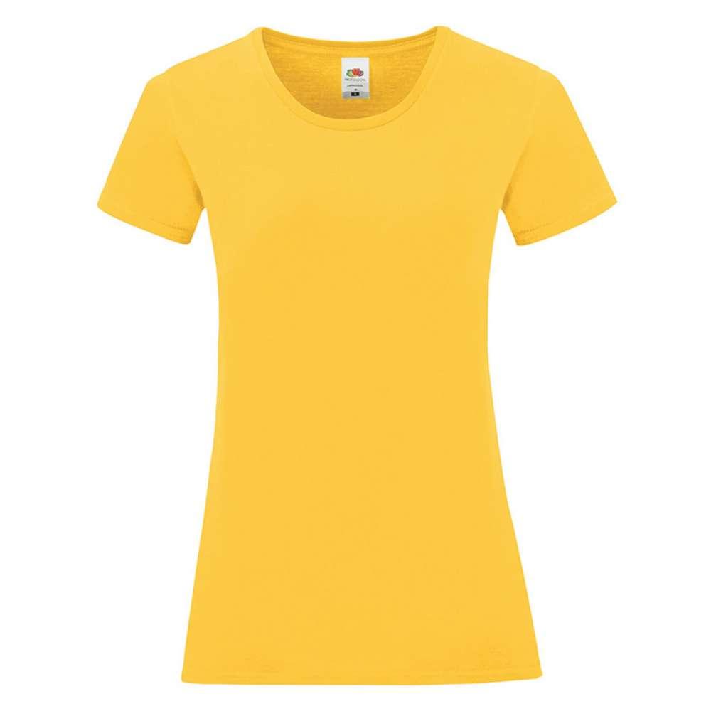 Tricou de dama din 100% bumbac galben