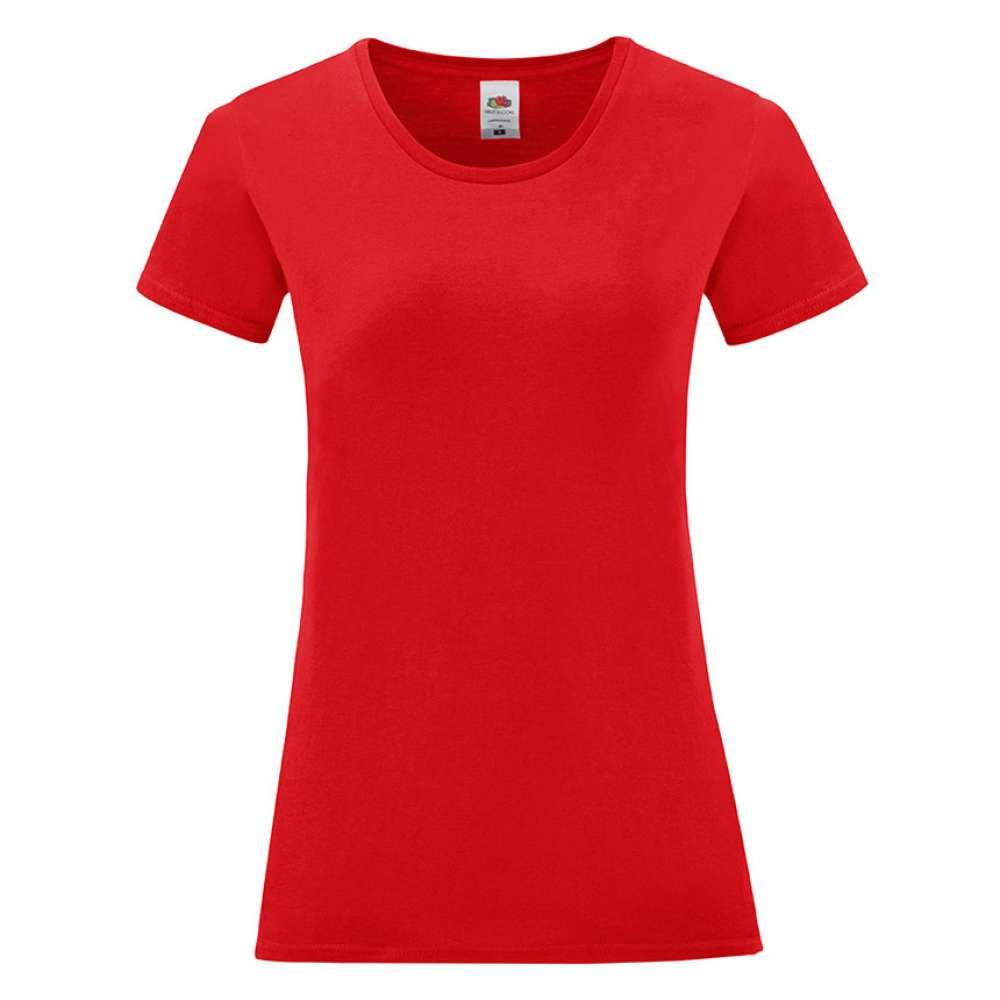 Tricou de dama din 100% bumbac rosu