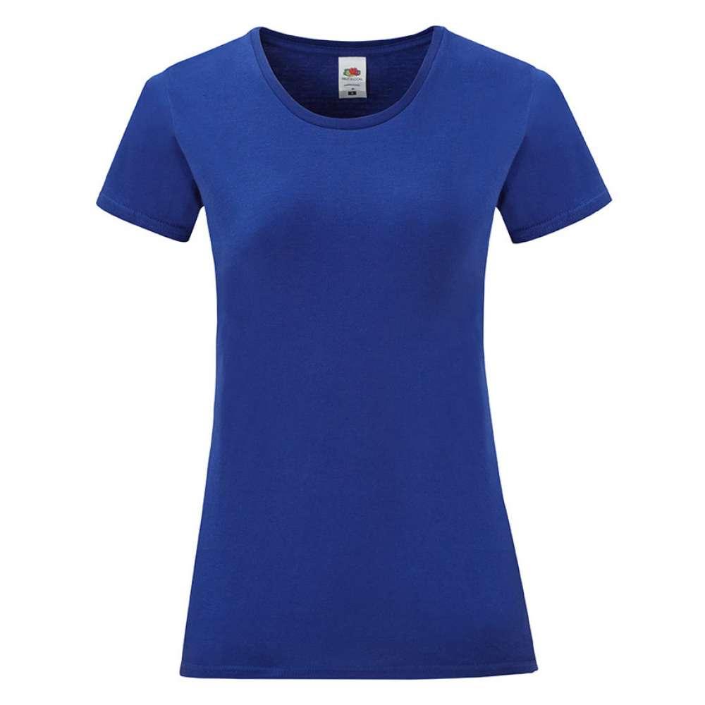 Tricou de dama din 100% bumbac pe albastru
