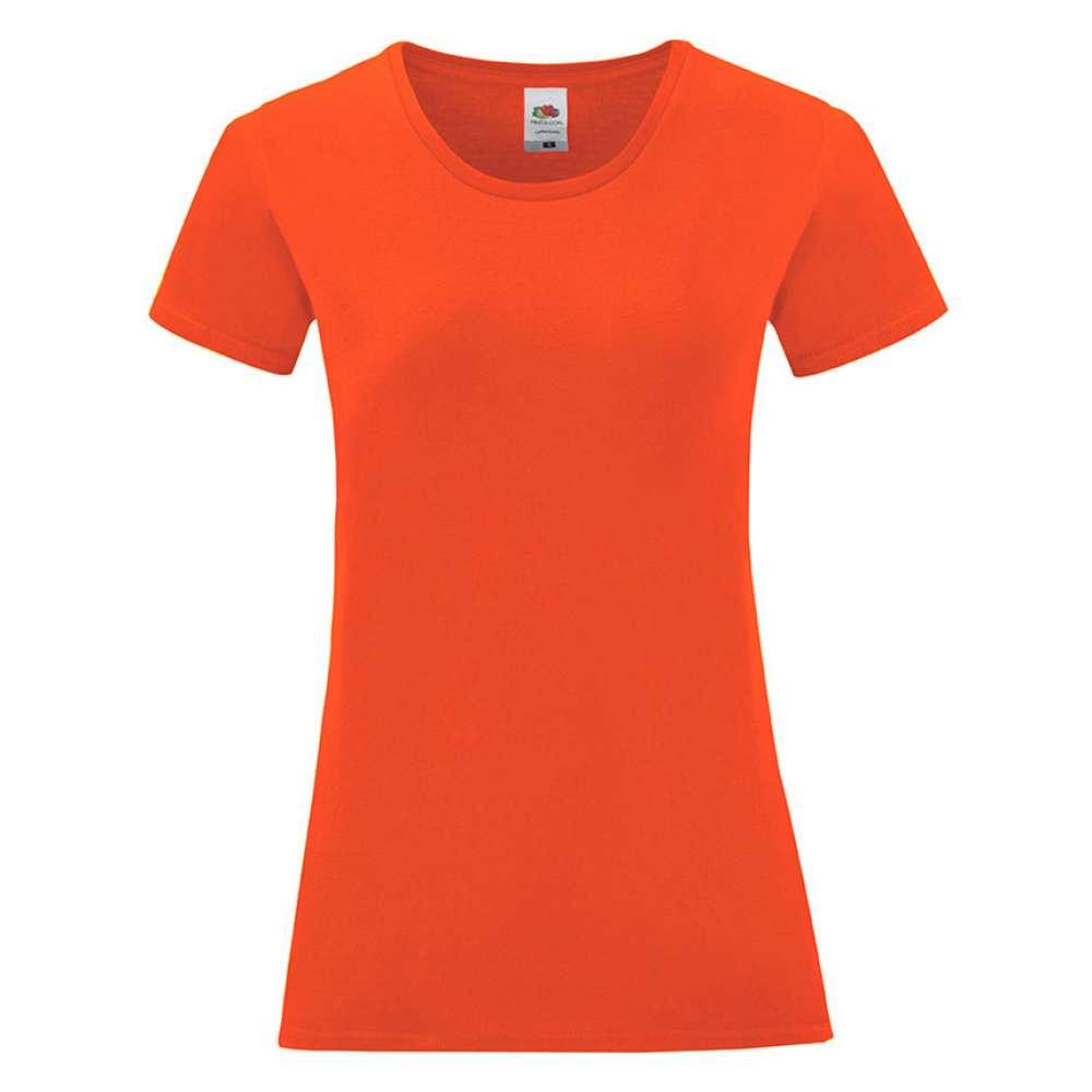 Tricou de dama din 100% bumbac pe portocaliu