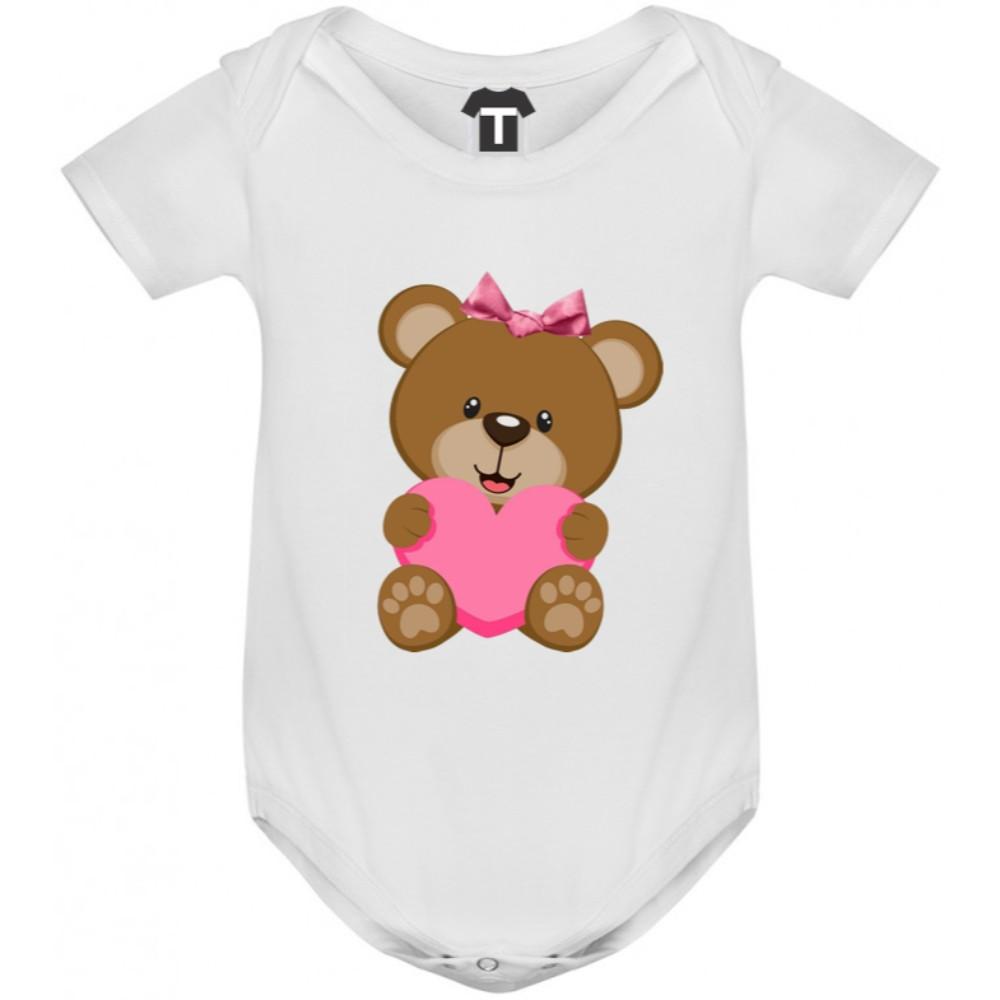 Body bebelusi Bear - Pink Heart