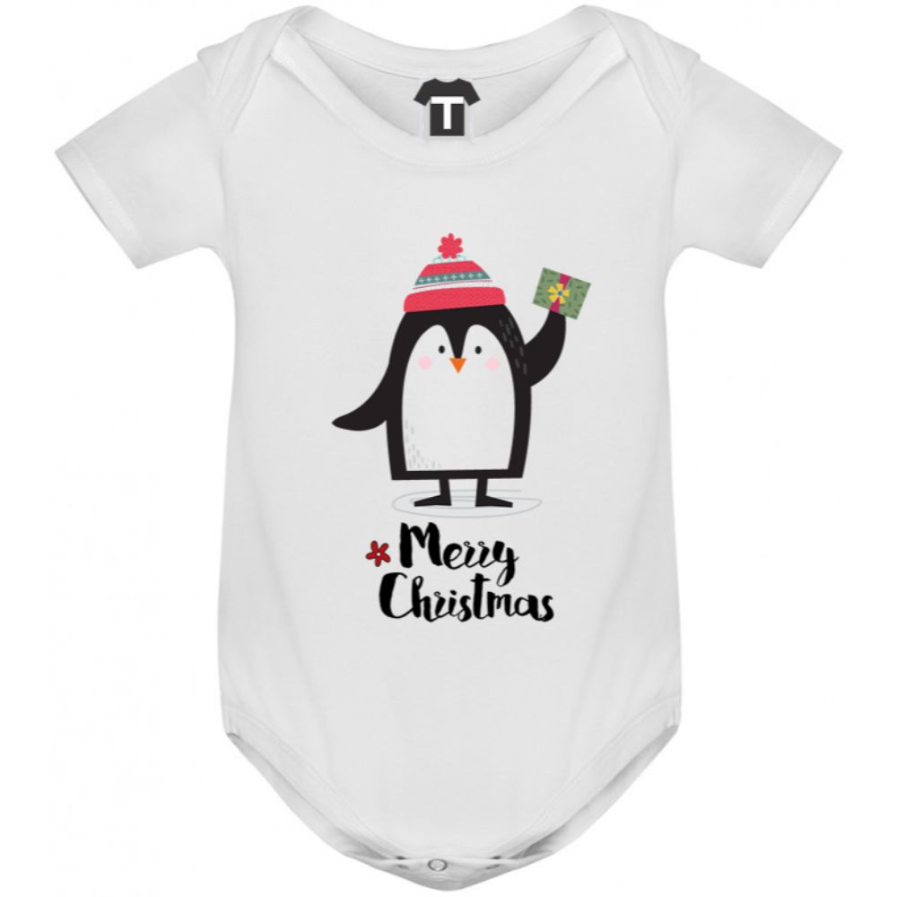 Body bebelusi Merry Christmas Penguin Girl