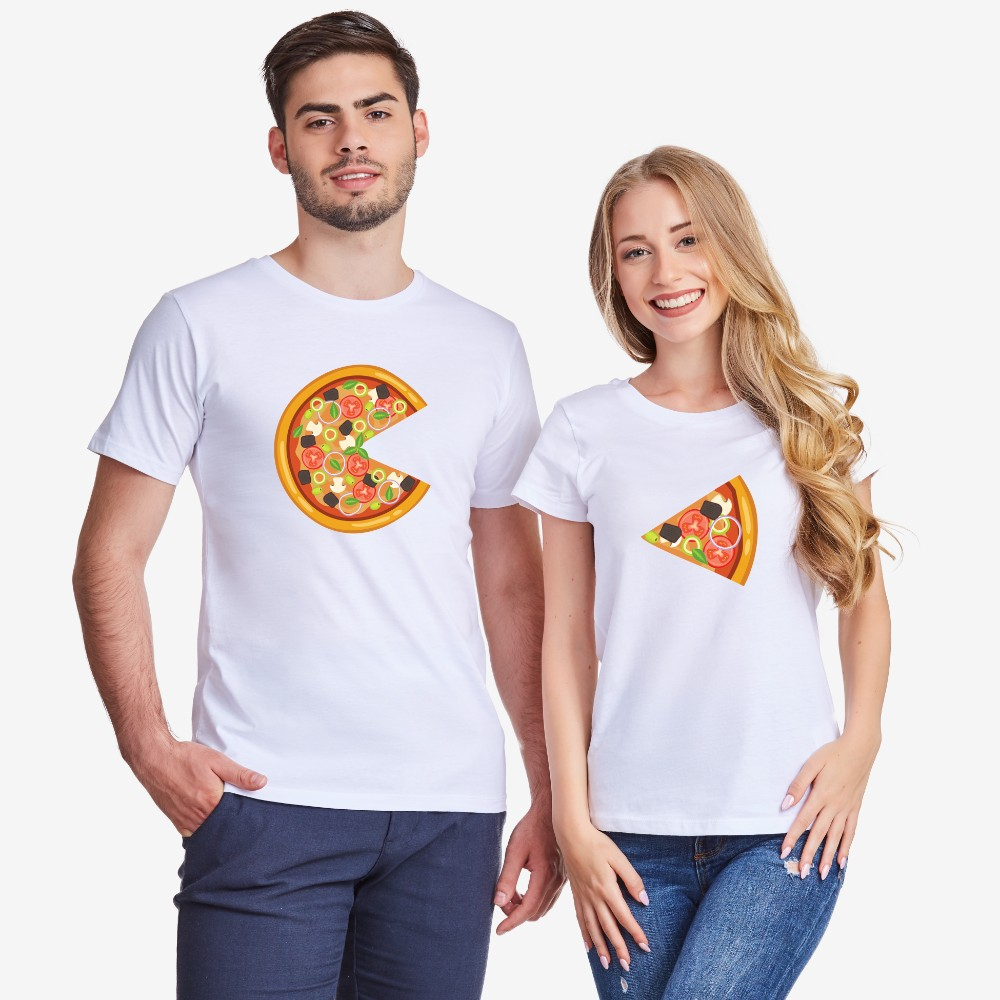 Tricouri pentru cupluri Pizza Slices