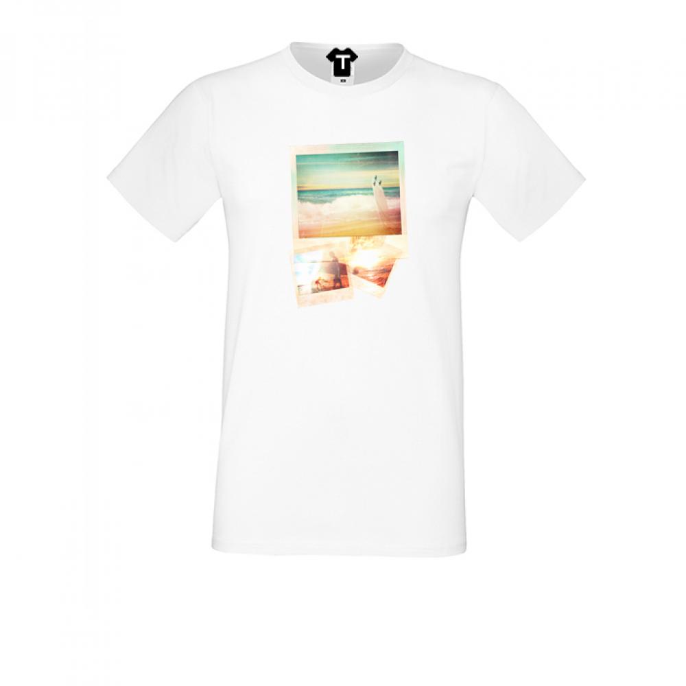 Tricou de barbat alb cu imprimeu