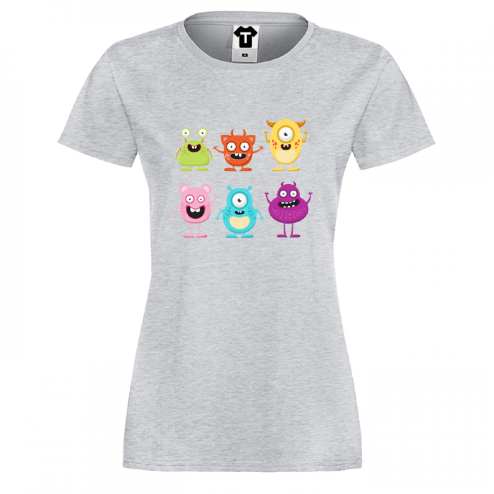 Tricou de dama Monsters painted