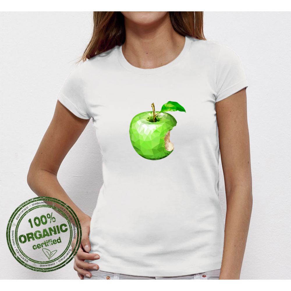 Tricou de dama alb Green Apple