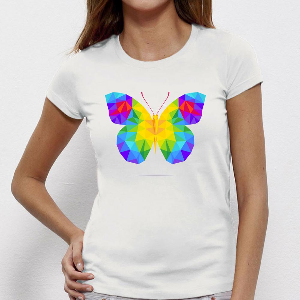 Tricou de dama Butterfy Polygonal