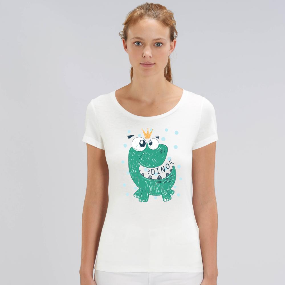 Tricou de femei alb din bumbac organic Dino