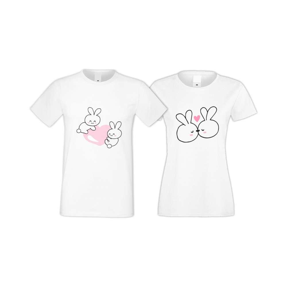 Tricouri pentru cupluri Bunnies