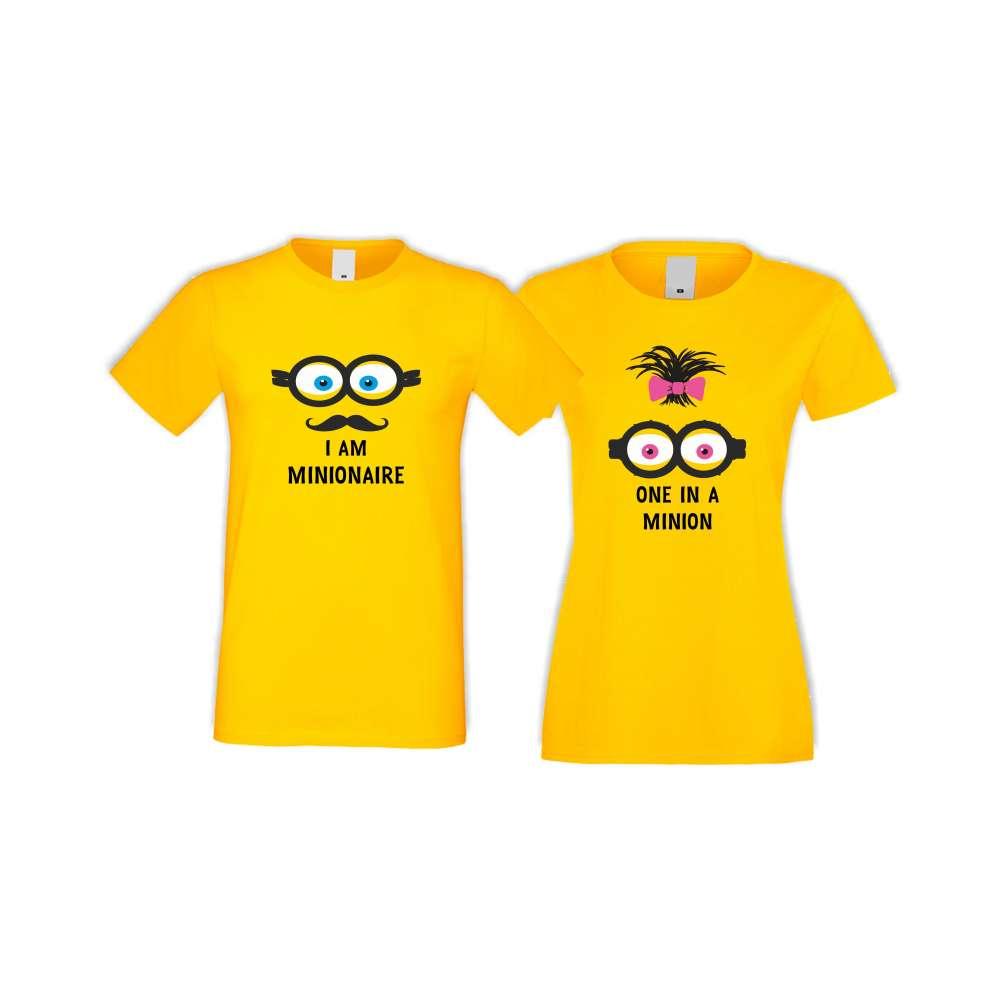 Tricouri pentru cupluri Minions - 2