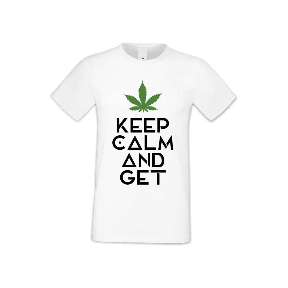 Tricou de barbati Keep Calm and Get High