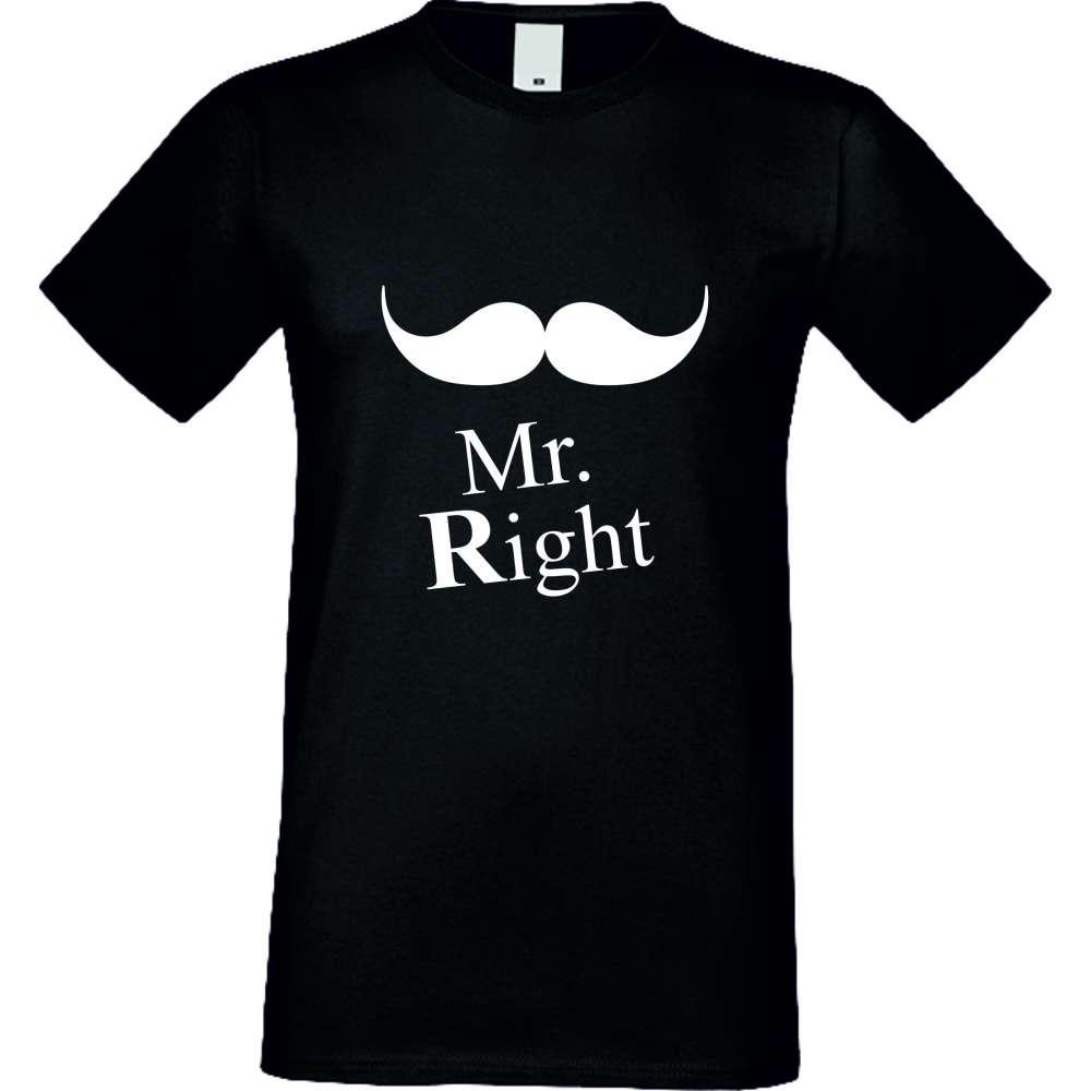 Tricou de barbati Mr. Always Right Negru