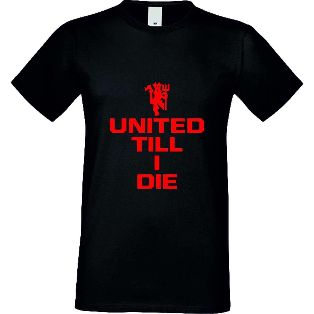 Tricou de barbati United till I die Negru