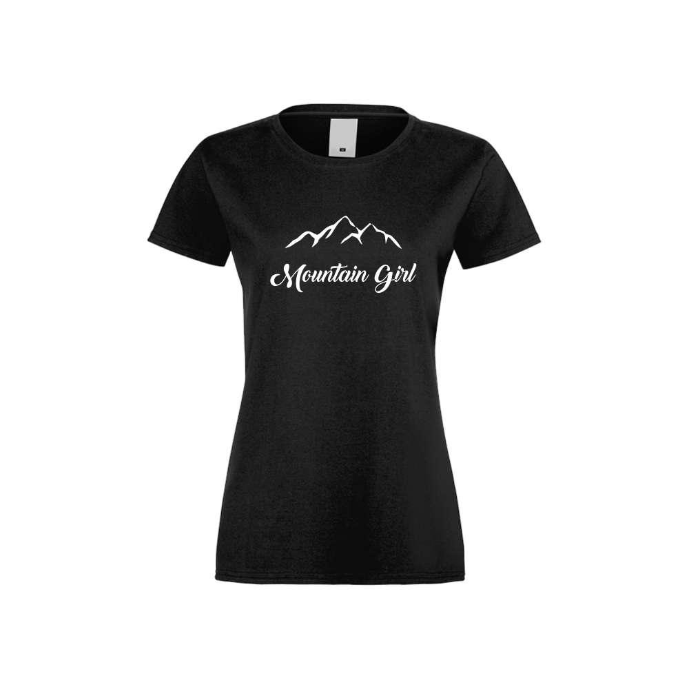 Tricou de dama Mountain Girl negru