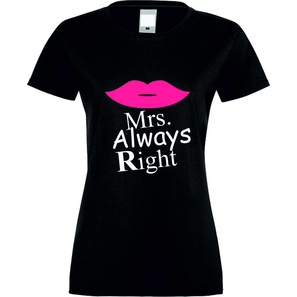 Tricou de dama Mrs. Always Right Negru