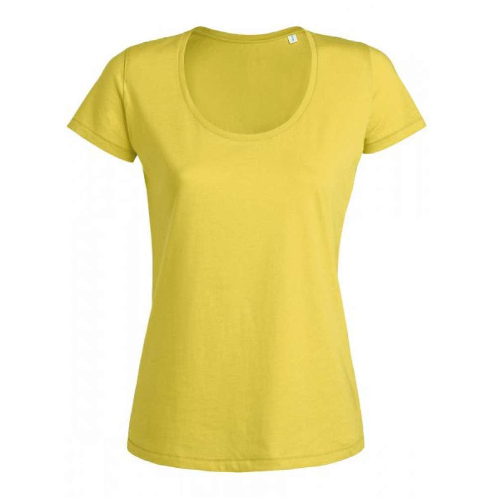 Tricou de dama galben 100% bumbac organic