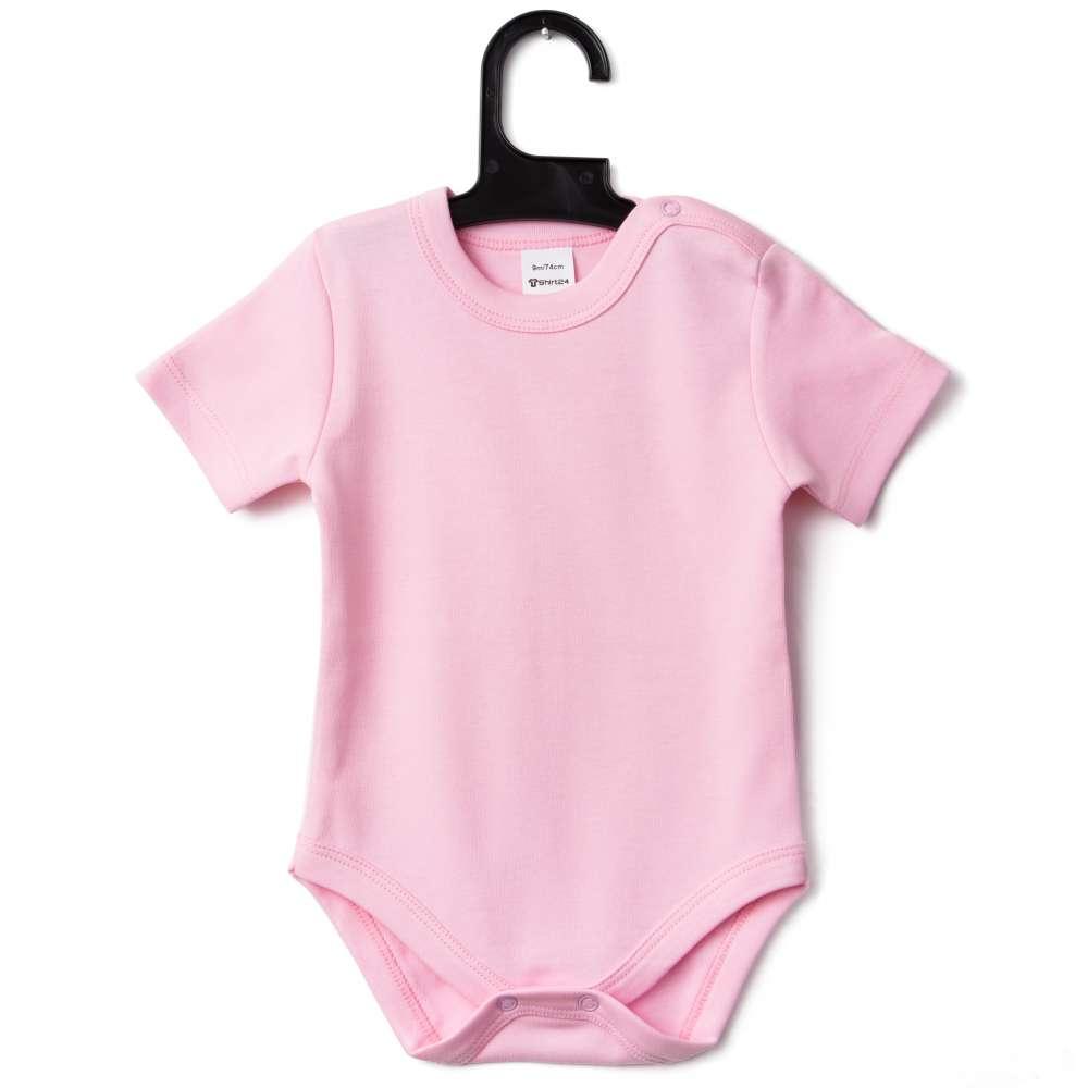 Body bebelusi cu maneca scurta roz