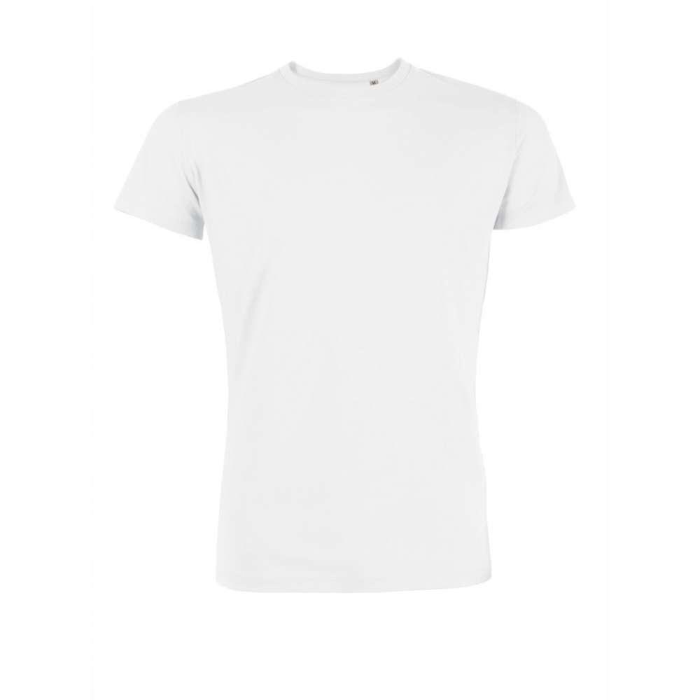Tricou de barbat alb 100% bumbac organic