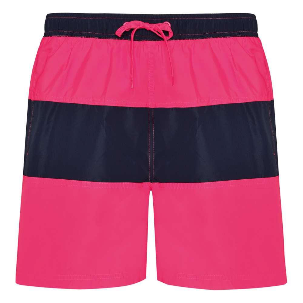 Pantaloni scurti pentru inot si sport roz si albastru inchis