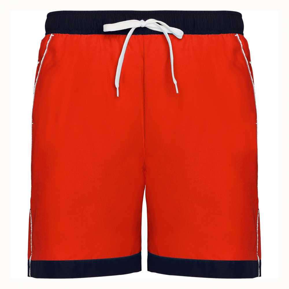 Pantaloni scurti pentru inot si sport rosu