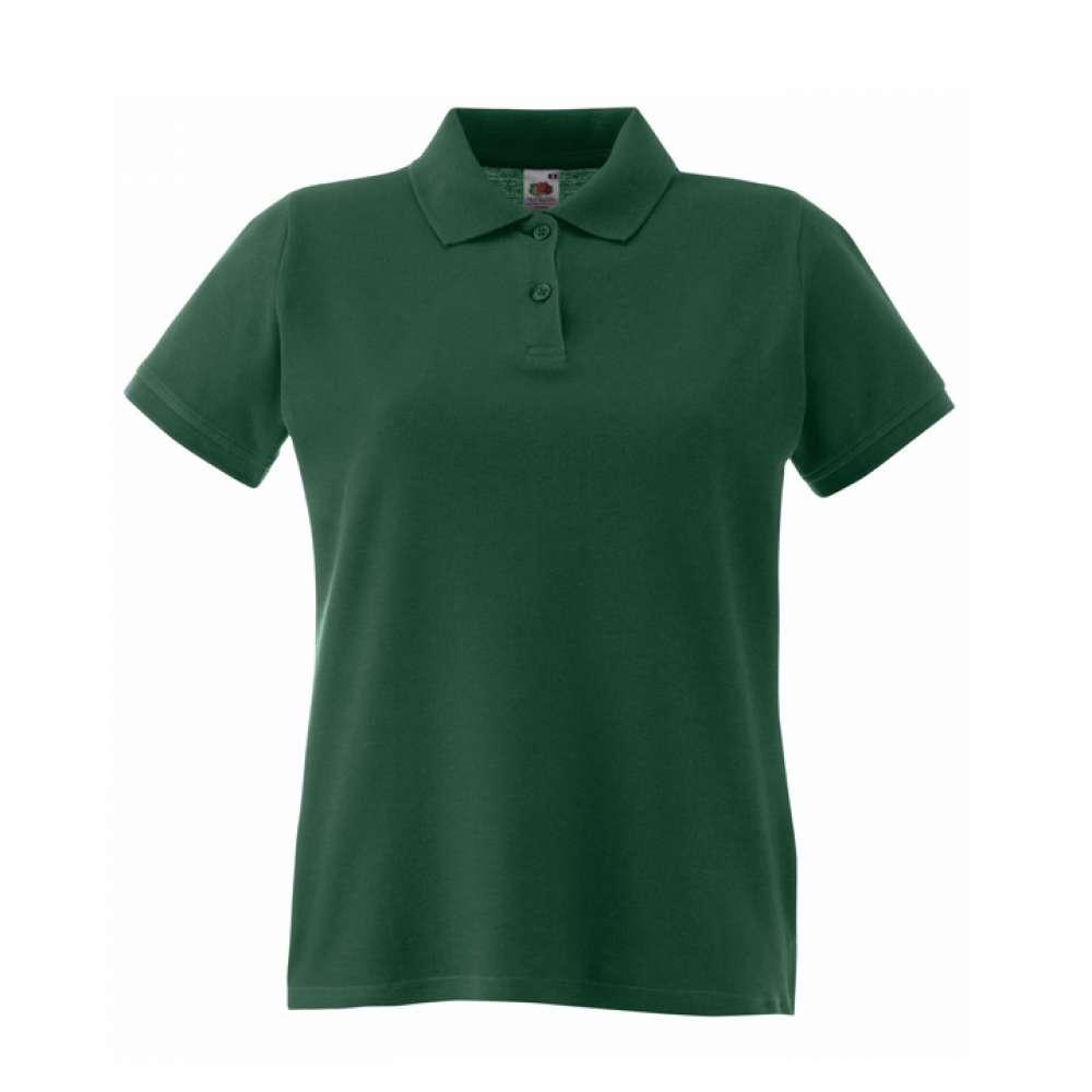 Tricou/Camasa stil Polo de dama 100% bumbac verde din padure