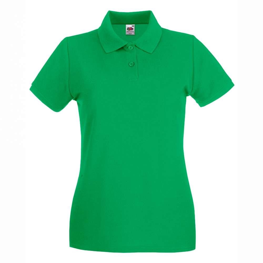Tricou/Camasa stil Polo de dama 100% bumbac verde