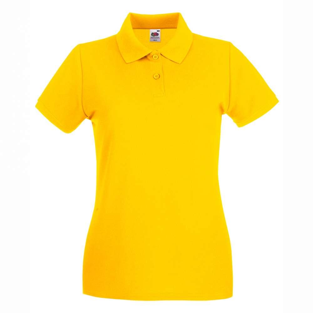 Tricou/Camasa stil Polo de dama 100% bumbac galben