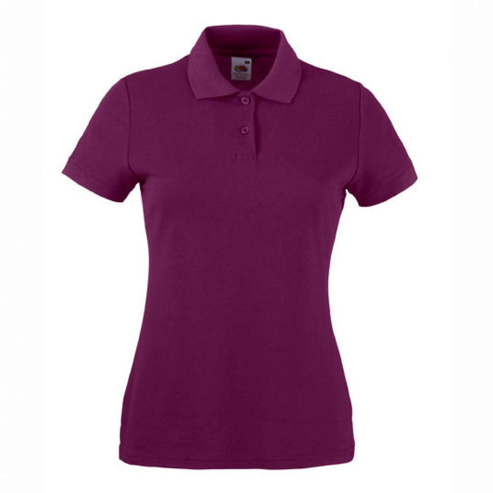 Tricou/Camasa stil Polo de dama din bumbac si poliester burgundy