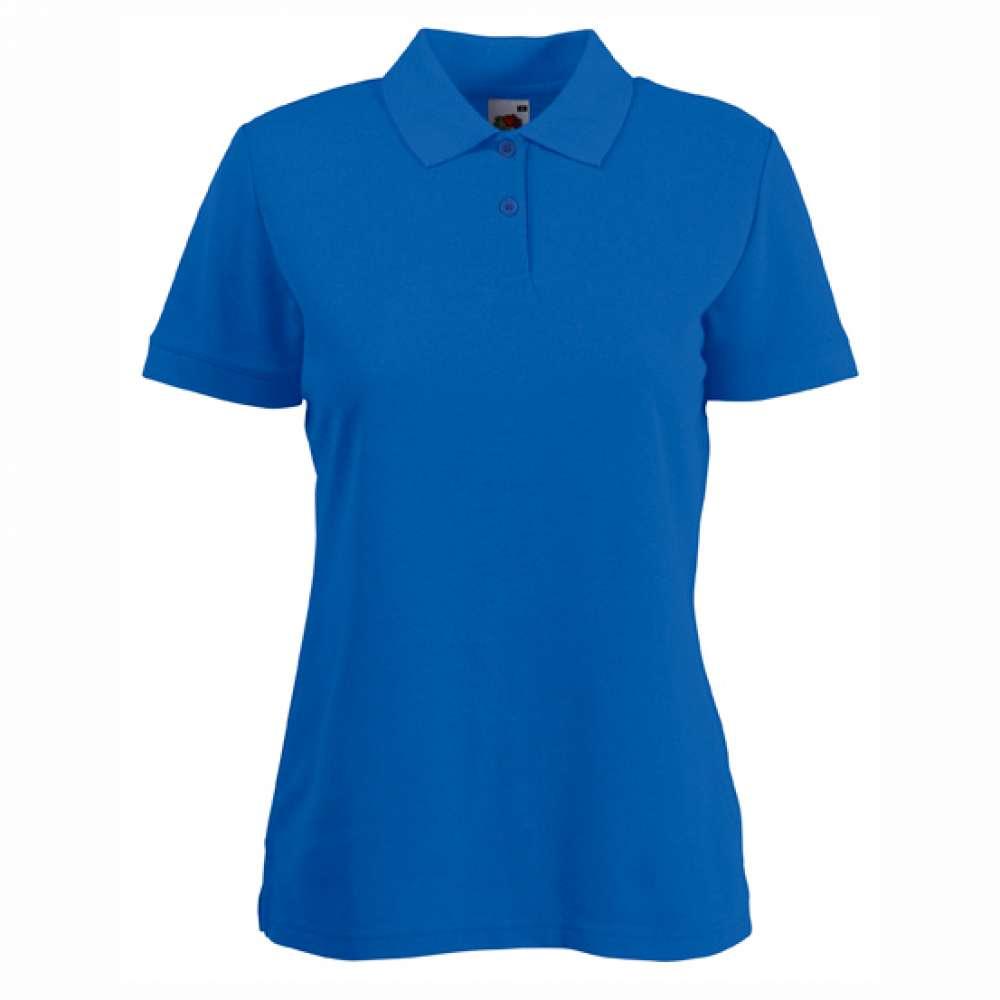 Tricou/Camasa stil Polo de dama din bumbac si poliester albastru