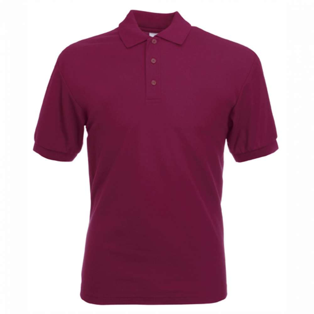 Tricou/Camasa stil Polo de barbat din bumbac si poliester burgundy