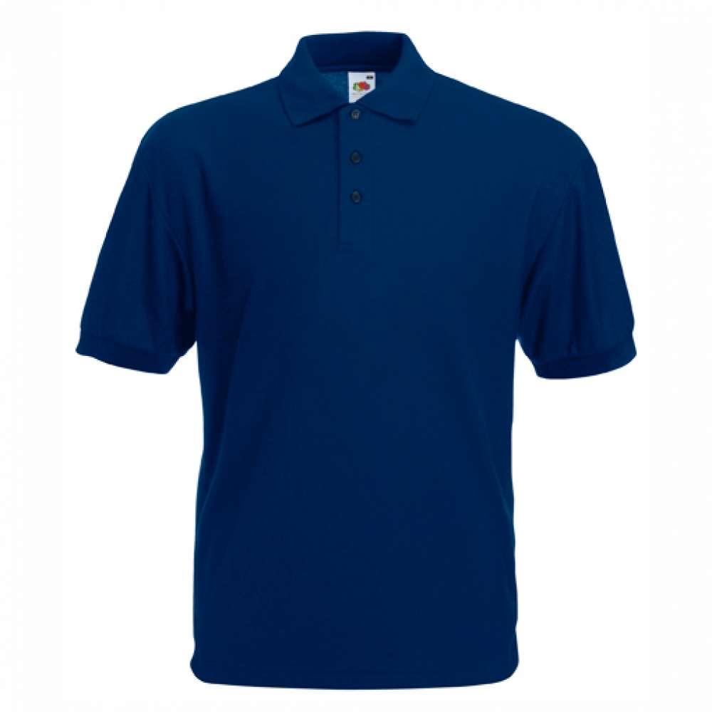 Tricou/Camasa stil Polo de barbat din bumbac si poliester albastru inchis (N)