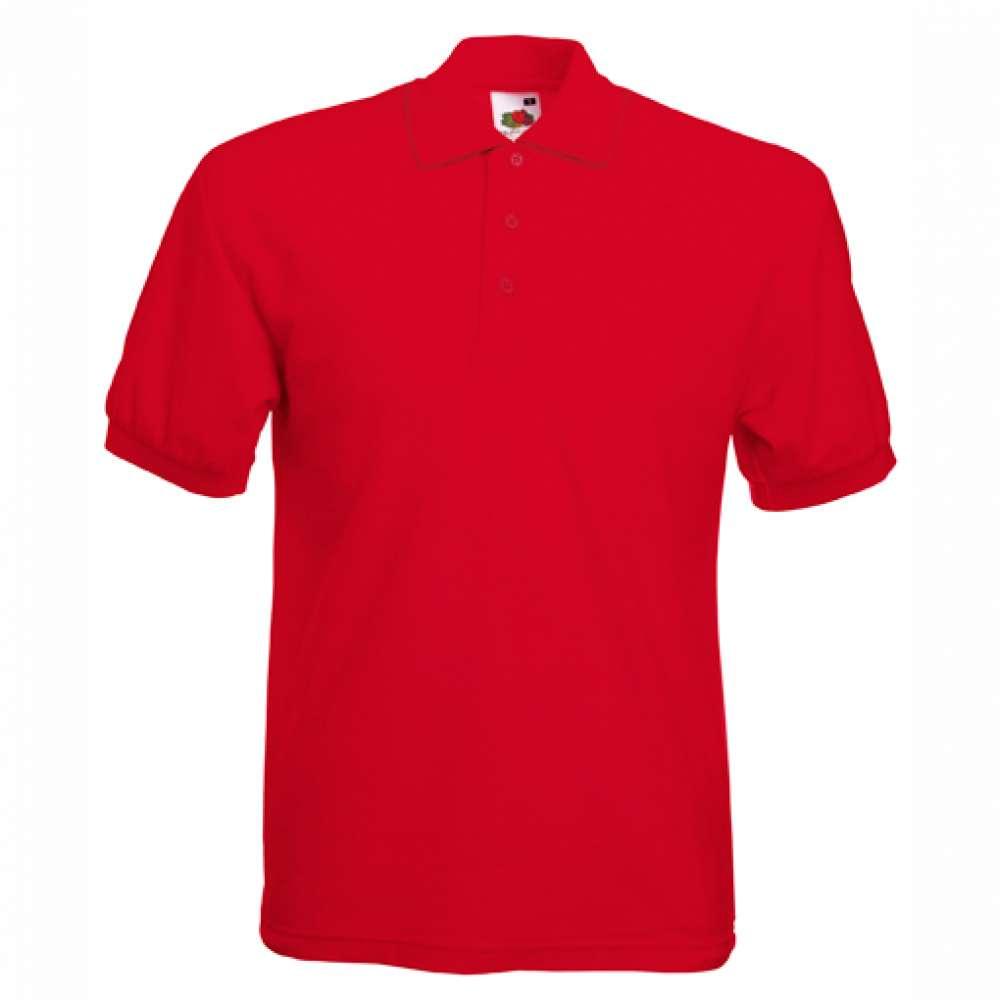 Tricou/Camasa stil Polo de barbat 100% bumbac rosu
