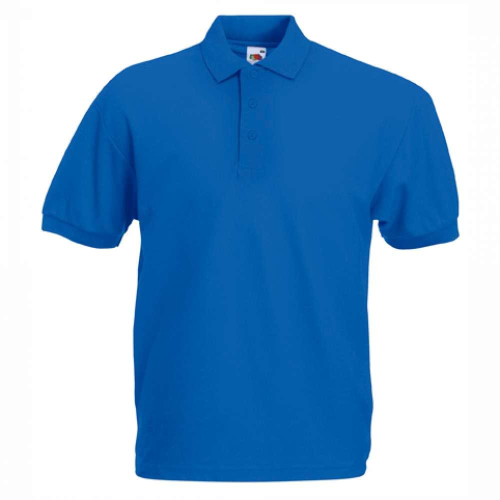 Tricou/Camasa stil Polo de barbat din bumbac si poliester albastru
