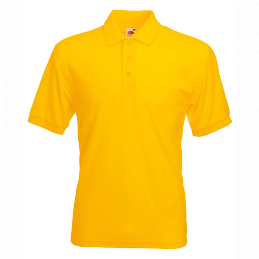 Tricou/Camasa stil Polo de barbat din bumbac si poliester galben