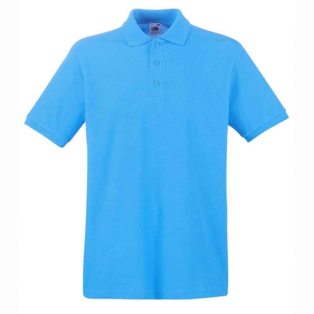 Tricou/Camasa stil Polo de barbat 100% bumbac albastru deschis