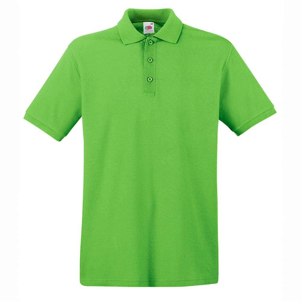 Tricou/Camasa stil Polo de barbat 100% bumbac lime