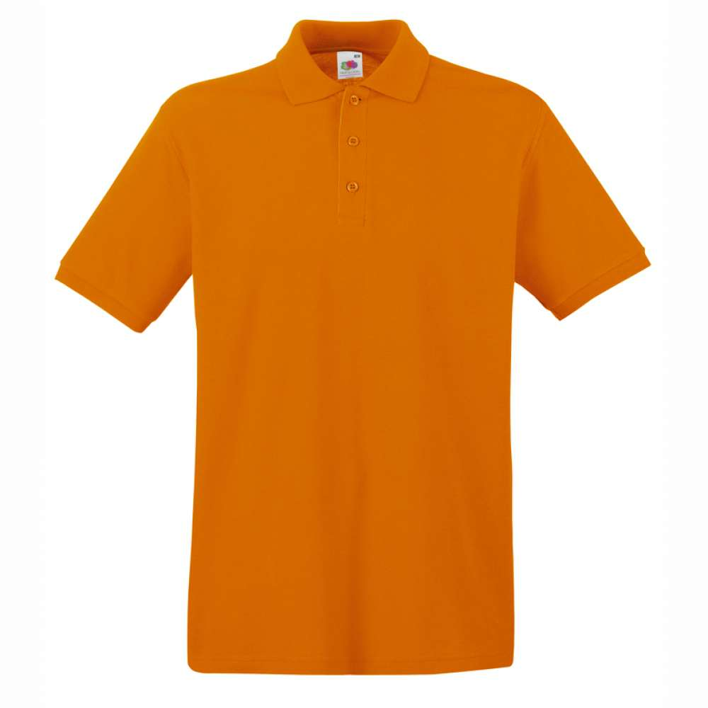 Tricou/Camasa stil Polo de barbat 100% bumbac portocaliu