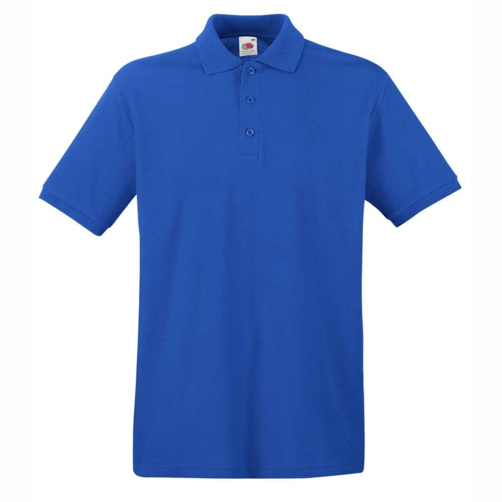 Tricou/Camasa stil Polo de barbat 100% bumbac albastru