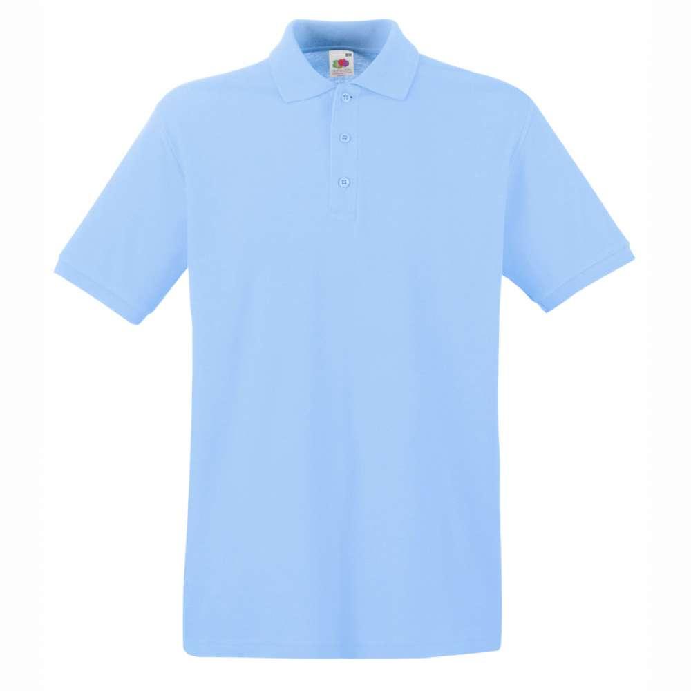 Tricou/Camasa stil Polo de barbat 100% bumbac albastru azur