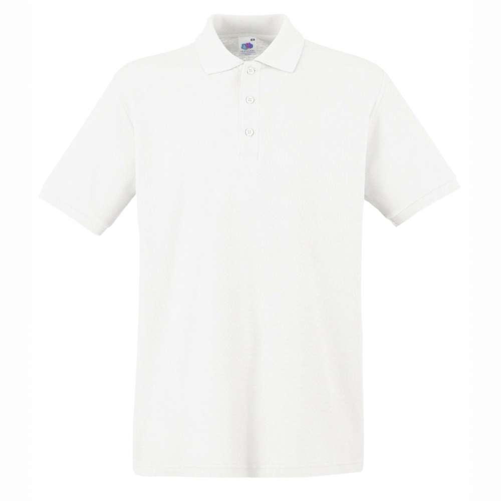 Tricou/Camasa stil Polo de barbat 100% bumbac alb
