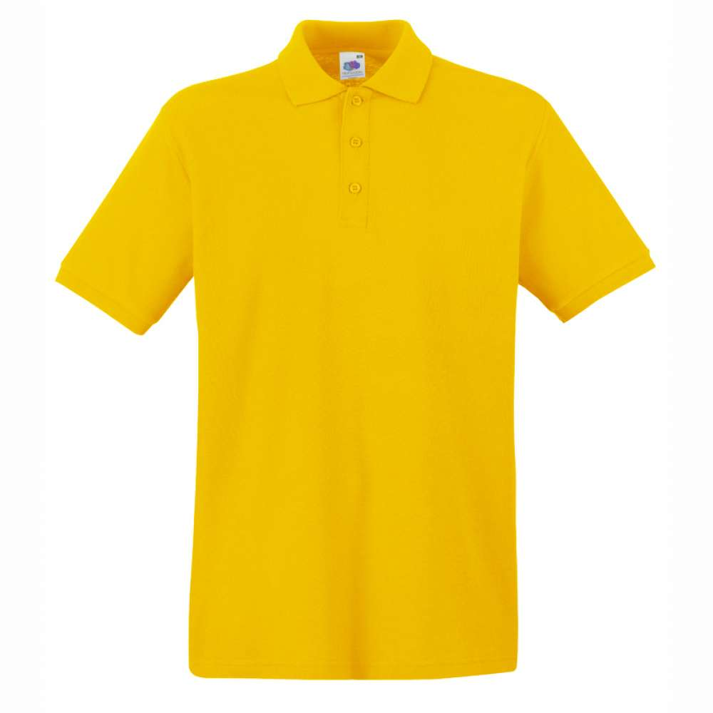 Tricou/Camasa stil Polo de barbat 100% bumbac galben